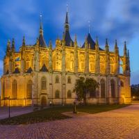 Schiebepuzzle mit dem Motiv Sankt Barbara Kirche Tschechien