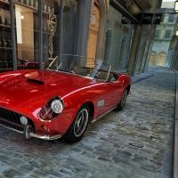 Schiebepuzzle mit dem Motiv Sportwagen auf italienisch