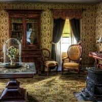Schiebepuzzle mit dem Motiv Viktorianisches Wohnzimmer