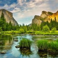Schiebepuzzle mit dem Motiv Yosemite National Park Kalifornien