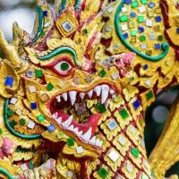 Schiebepuzzle mit dem Motiv Chinesischer Drache