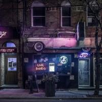 Schiebepuzzle mit dem Motiv Nachts in der City