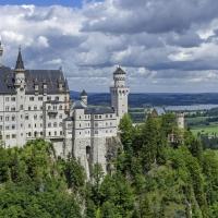 Schiebepuzzle mit dem Motiv Schloss Neuschwanstein
