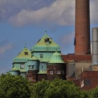 Schiebepuzzle mit dem Motiv Industrieanlage in Duisburg
