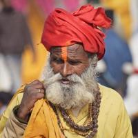 Schiebepuzzle mit dem Motiv Guru in Indien