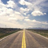Schiebepuzzle mit dem Motiv Long Way Home