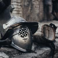 Schiebepuzzle mit dem Motiv Mach Dich bereit Gladiator