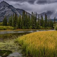 Schiebepuzzle mit dem Motiv Flusslauf in den Rocky Mountains