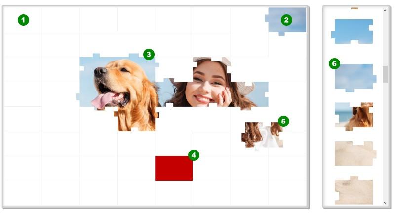 So funktioniert das kostenlose online Bilder Puzzle Rätsel