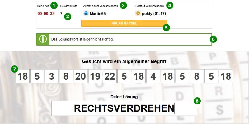 So funktioniert das kostenlose online Codeknacker Zahlenrätsel