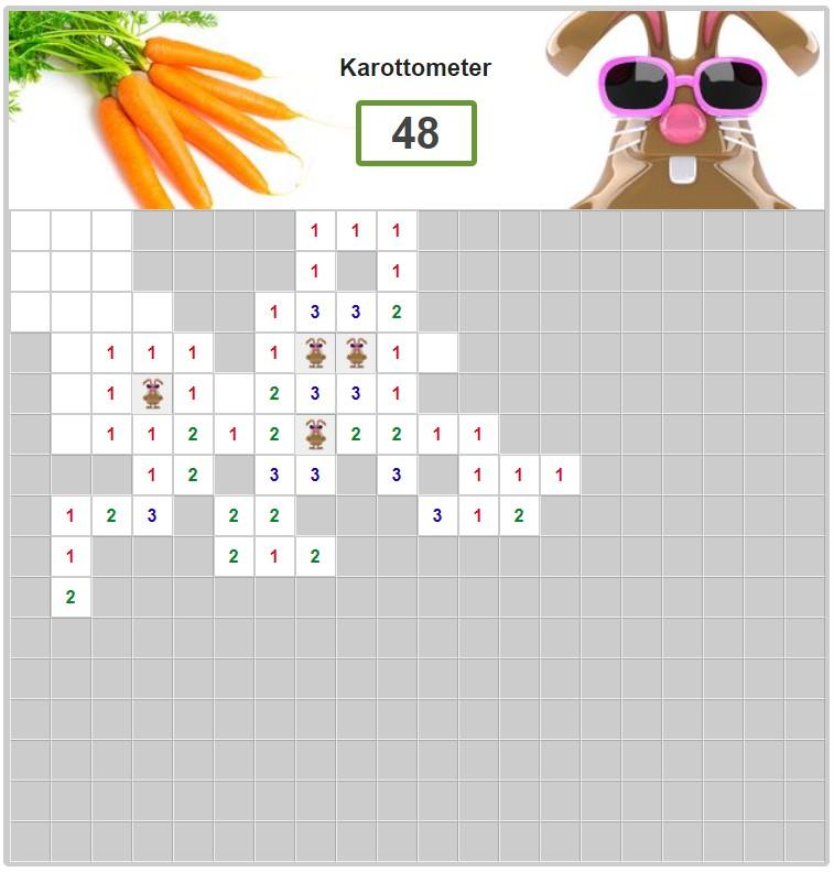Karottenjagd Spiel Rätsel Hilfe