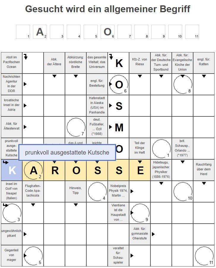 Kreuzworträtsel Rätsel Hilfe