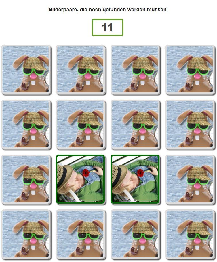 MemoBunny Spiel Rätsel Hilfe