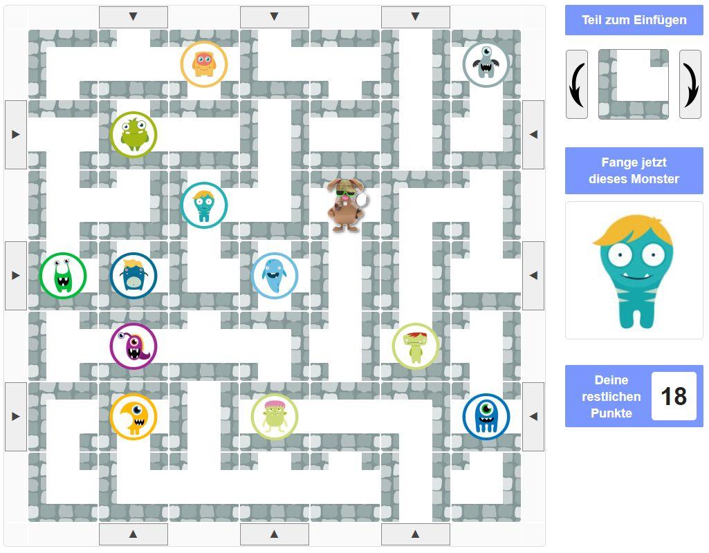 Monster Labyrinth Spiel Rätsel Hilfe