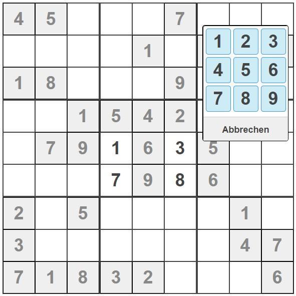 Sudoku Rätsel Rätsel Hilfe