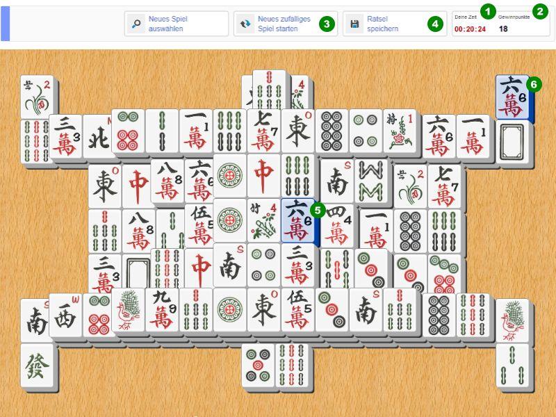 So funktioniert das kostenlose online Mahjong Spiel